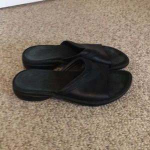 Merrell Black Leather Sandal Shoes Size 9